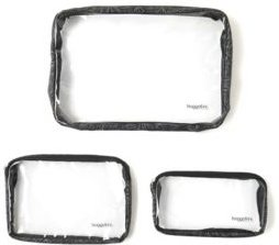Clear Travel Pouches, Set of 3