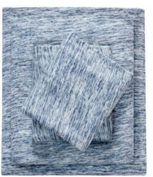 Space Dyed Twin Cotton Jersey Knit Sheet Set Bedding