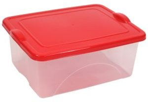 5.25 Gallon Clearview Storage with Color Snap-on Lid