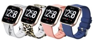 Unisex Fitbit Versa Assorted Silicone Watch Replacement Bands - Pack of 4