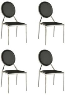Lisa Round-Back Side Chair, Set of 4