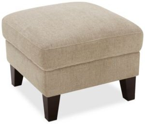 """Lylie 22"""" Fabric Cocktail Ottoman, Created for Macy's"""