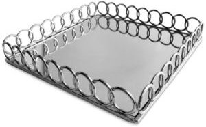 Square Link Mirrored Tray