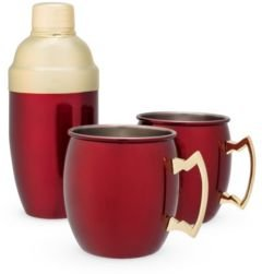 Moscow Mule Mug Cocktail Shaker Gift Set of 3
