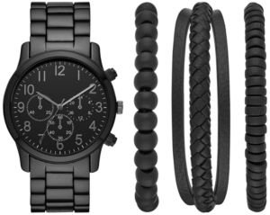Gunmetal Bracelet Watch 44mm Box Set