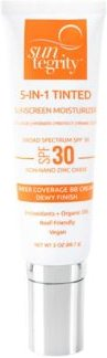 5 in 1 Broad Spectrum Spf 30 Natural Moisturizing Face Sunscreen, 2 oz