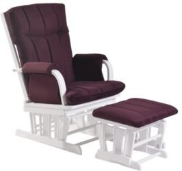 Home Deluxe Fabric Cushion 2-Piece Glider Chair and Ottoman Set