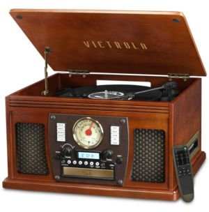 Victrola Wood 8-in-1 Nostalgic Bluetooth Record Player