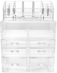 Cosmetics Makeup and Jewelry Storage Case Large Display Sets - Style 2