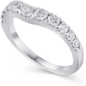 Certified Diamond (3/4 ct. t.w.) Contour Band in 14K White Gold