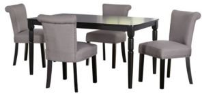 Adeline 5 Piece Dining Set with Rectangle Table