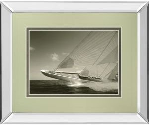 "Sea Spray Ii by Michael Kahn Mirror Framed Print Wall Art, 34"" x 40"""