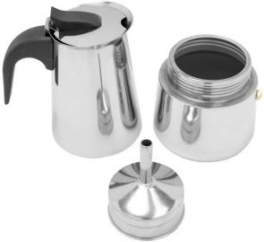 6 Cup Stainless Steel Espresso Maker, Silver