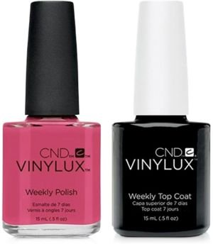 Creative Nail Design Vinylux Irreverent Rose Nail Polish & Top Coat (Two Items), 0.5-oz, from Purebeauty Salon & Spa