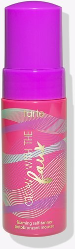 limited-edition travel-size glow with the faux foaming self-tanner