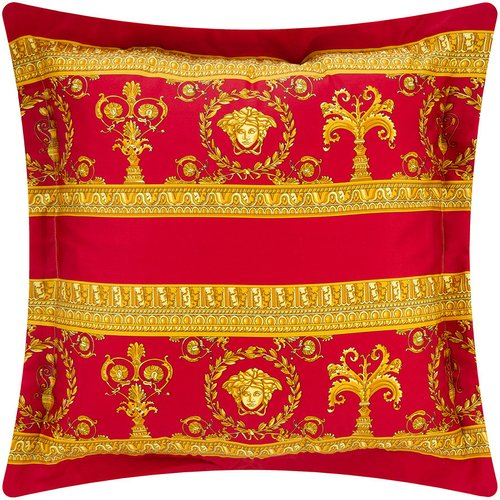 Barocco & Robe Double Face Reversible Pillow - Red/Black/Gold