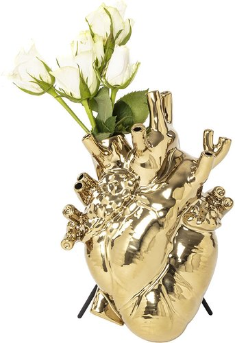 Love In Bloom Gold Edition Heart Vase