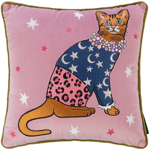 Fashion Cats Star and Moon Pillow - 35x35cm