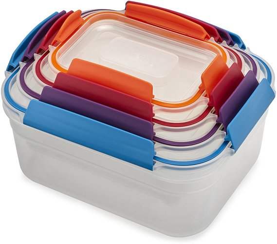 Nest Lock Compact Storage Containers - Multicolor - Set of 4