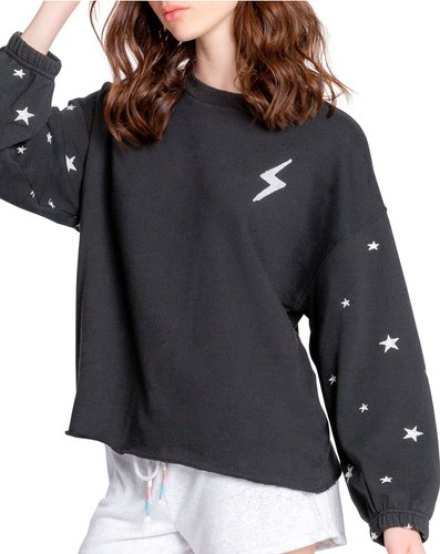 Lightning And Stars Embroidered Pullover