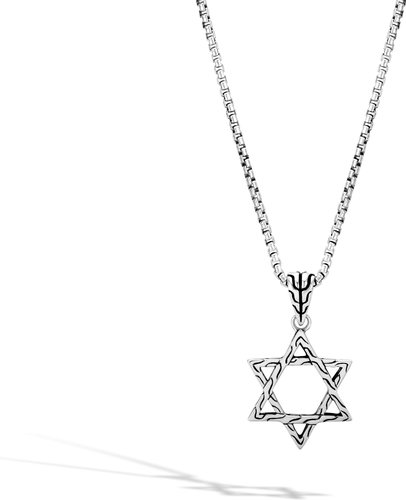 Classic Chain Star of David Pendant in Sterling Silver