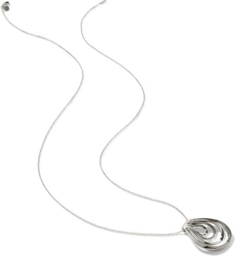 Asli Classic Chain Link Pendant Necklace in Sterling Silver