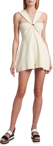 Compact Knit O-Ring Romper