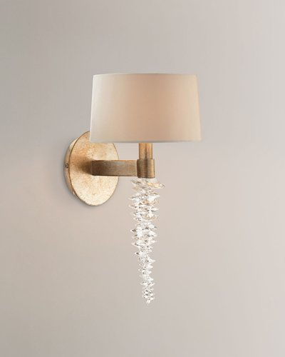 """Cascading Crystal Waterfall 14"""" Sconce"""