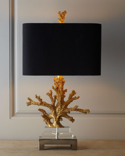 """Gold Coral"""" Lamp"""""""
