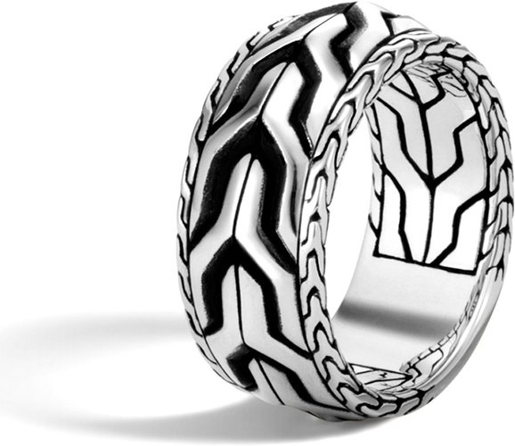 Classic Chain Asli Silver Band Ring