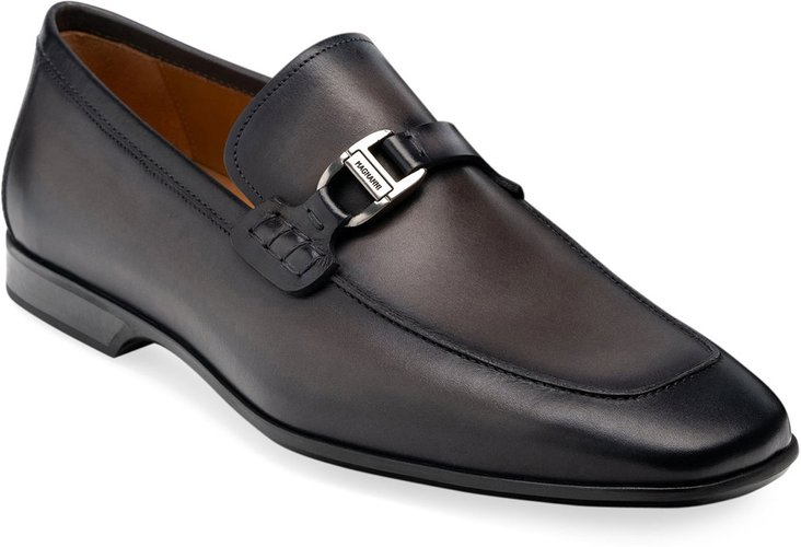Rambla Leather Buckle-Strap Loafers
