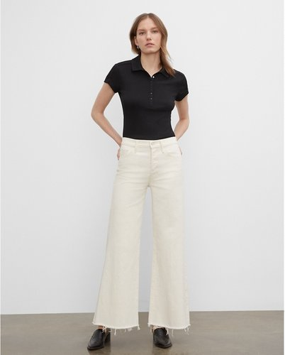 Ecru Mother Roller Fray Jeans in Size 27