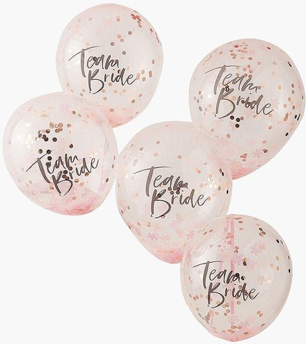 Ginger Ray Confetti Balloons Team Bride 5pk - multi - One Size
