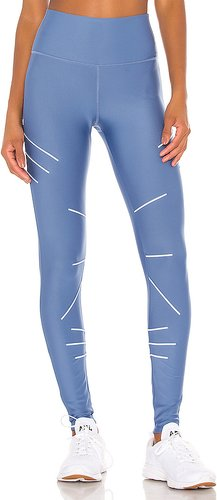 High Waist Sequence Legging in Blue. - size XS (also in L,M)