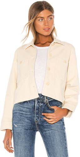 Lex Woven Jacket in Ivory. - size XS (also in L,M,S)