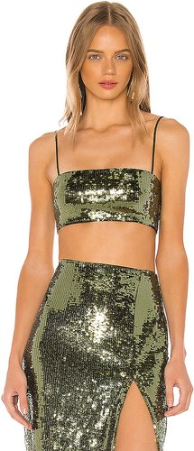 Ava Crop Top in Olive. - size XS (also in L,M,XL)