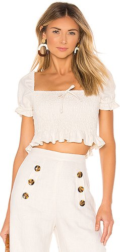 Marie Top in Cream. - size L (also in M)