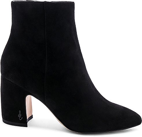 Hilty Suede Bootie in Black. - size 10 (also in 6)