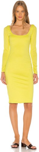 Octavia Midi Dress in Yellow. - size XS (also in S)