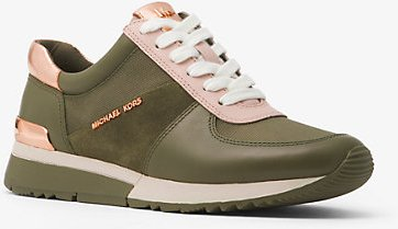 Allie Leather And Canvas Sneaker