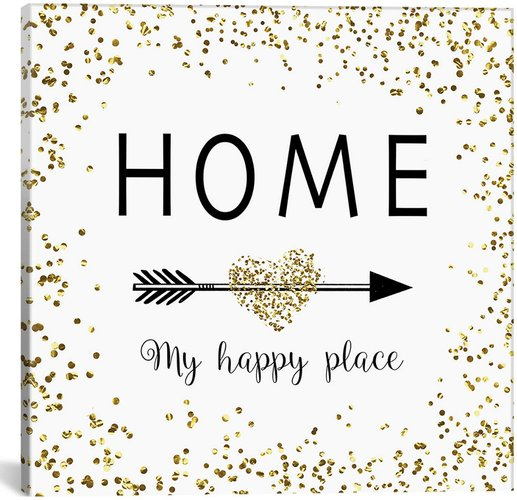 iCanvas Home My Happy Place by Amanda Murray