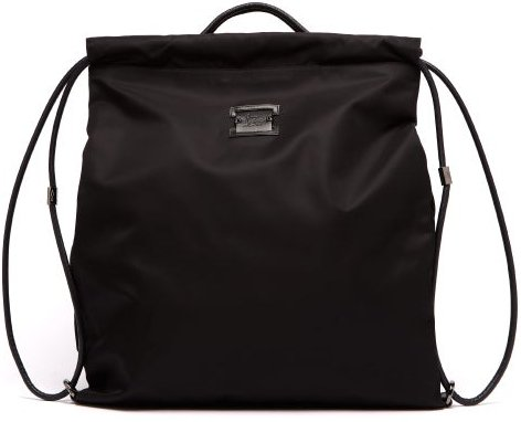 Kaloubi Leather-trimmed Nylon Backpack - Mens - Black