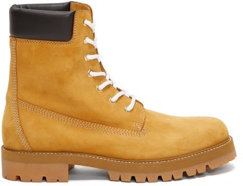 Lace-up Suede Boots - Mens - Tan