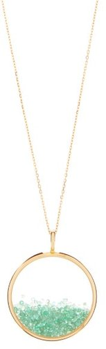 Chivor Large Emerald & 18kt Gold Necklace - Womens - Yellow Gold