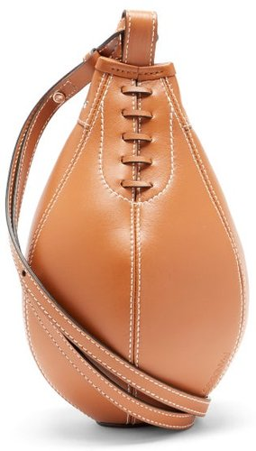 Punch Small Leather Cross-body Bag - Womens - Tan