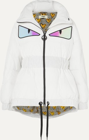 Appliquéd Quilted Down Jacket - White