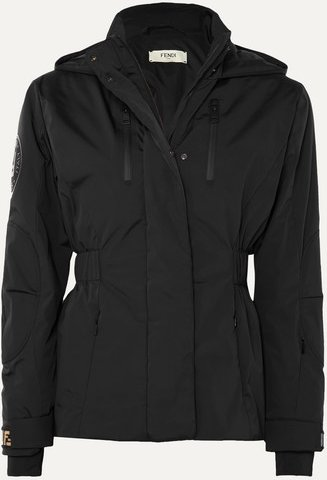 Hooded Quilted Shell Jacket - Black