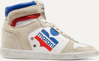 Bayten Logo-print Leather And Suede Sneakers - White