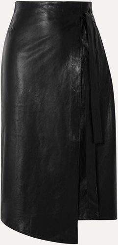 Envelope1976 - Sarajevo Leather Wrap Skirt - Black