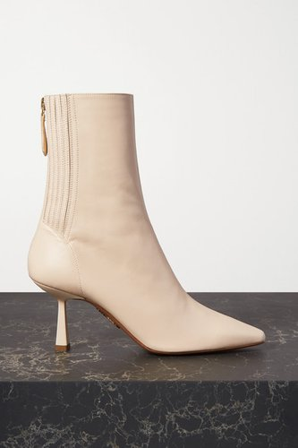 Curzon 75 Leather Ankle Boots - Off-white